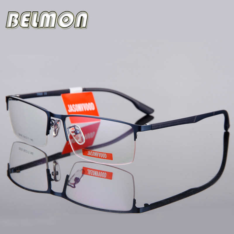 Spectacle Frame Eyeglasses Men Computer Optical Myopia Prescription Glasses Frame For Male Transparent Armacao  de RS110
