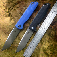 CH3507 G10 Handle Folding Knife D2 Blade Ball Bearing Washer Flipper Pocket knife with Clip