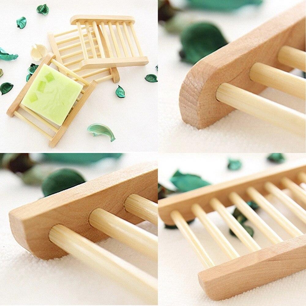 2016 Hot Sale Natural Wood Soap Tray Holder Dish Box Case Storage Novelty Shower Wash New Stock Offer Wood Soap Tray Holder