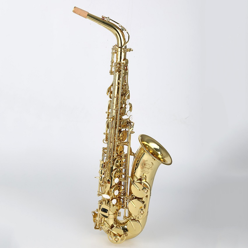 F tone bE Alto Saxophone bakelite mouthpiece gold lacquer falling tune E saxophone professional band Eb sachs good for beginner synthesis of wood eb alto saxophone mouthpiece page 8