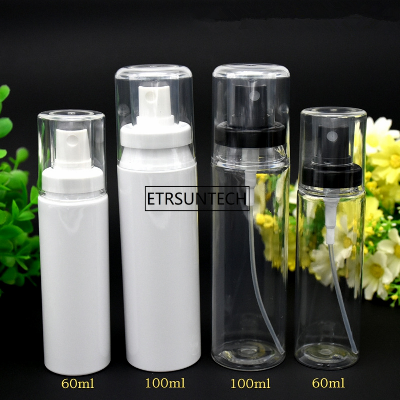 100pcs 60ml 100ml <font><b>120ml</b></font> Clear White PP Perfume Mist <font><b>Spray</b></font> <font><b>Bottles</b></font> Empty Plastic Atomizer Sprayer Containers F2463 image
