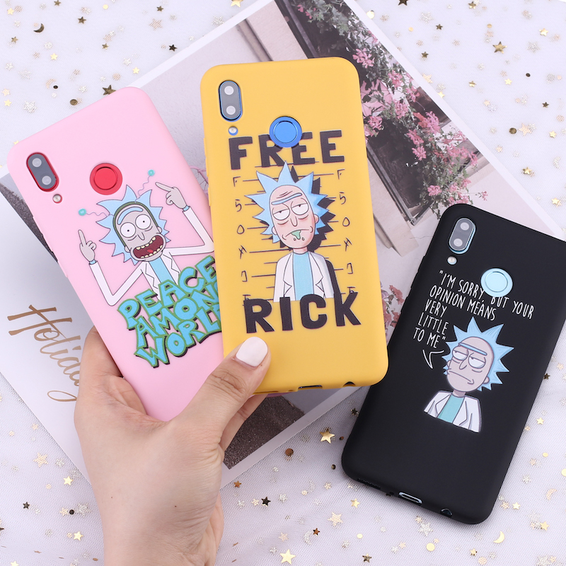 For <font><b>Samsung</b></font> S8 S9 S10 S10e Plus Note 8 9 10 A7 A8 Rick and Morty Memes Fan Cartoon Candy Silicone Phone <font><b>Case</b></font> Capa Fundas Coque image