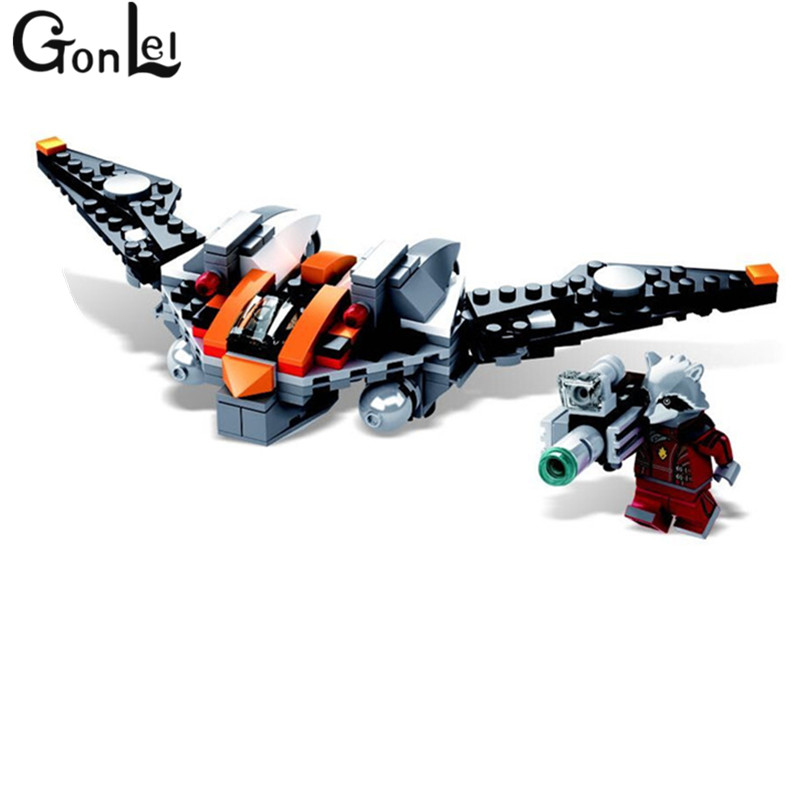 GonLeI Marvel Guardians of the Galaxy SDCC Rocket Raccoons Warbird 169pcs SY326 brick toys include Rocket Racoon block toys