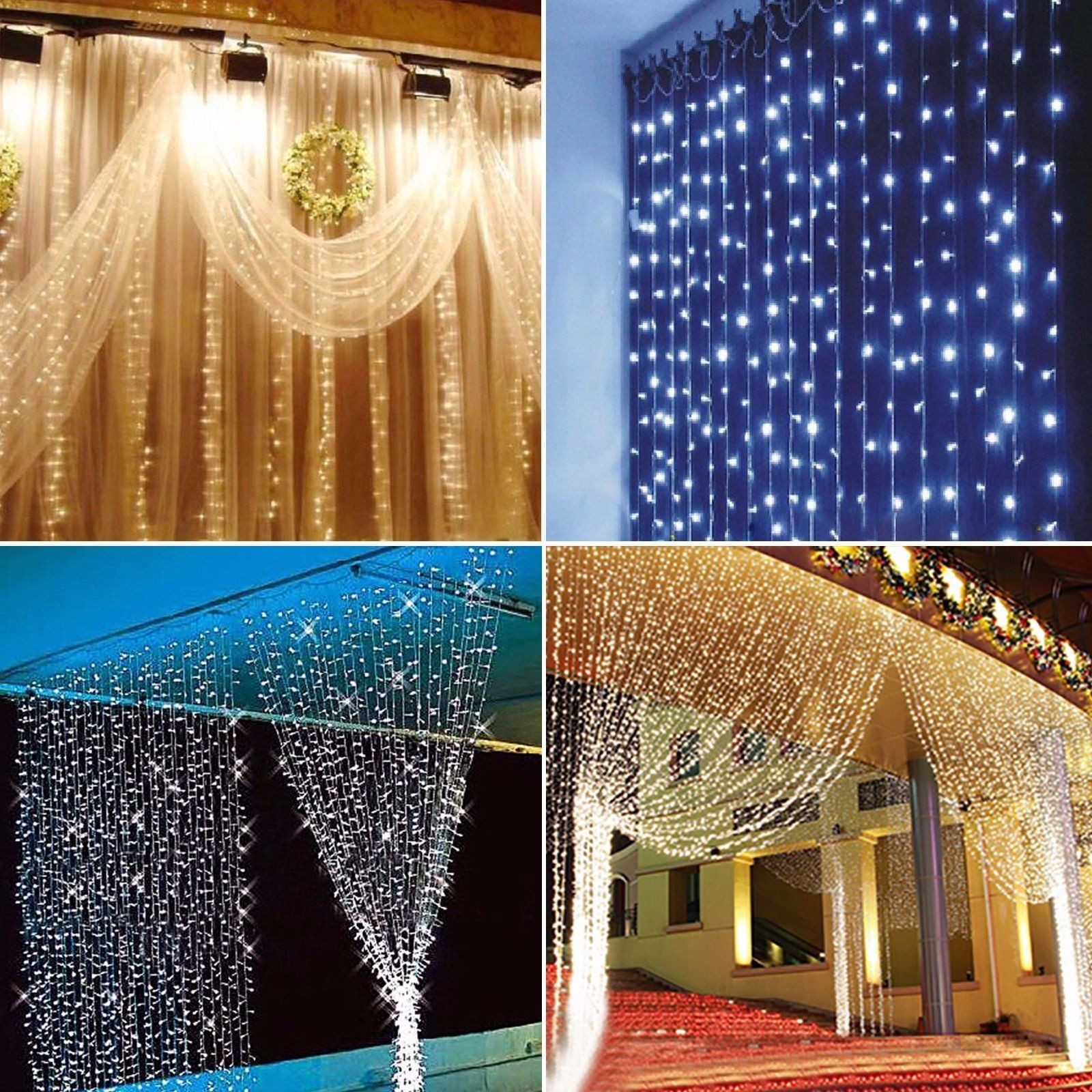 Rideau lumière 600 lumière LED chaîne de règles uefa 220 v6 * 3 m série de lampe rideau étanche intérieure et extérieure