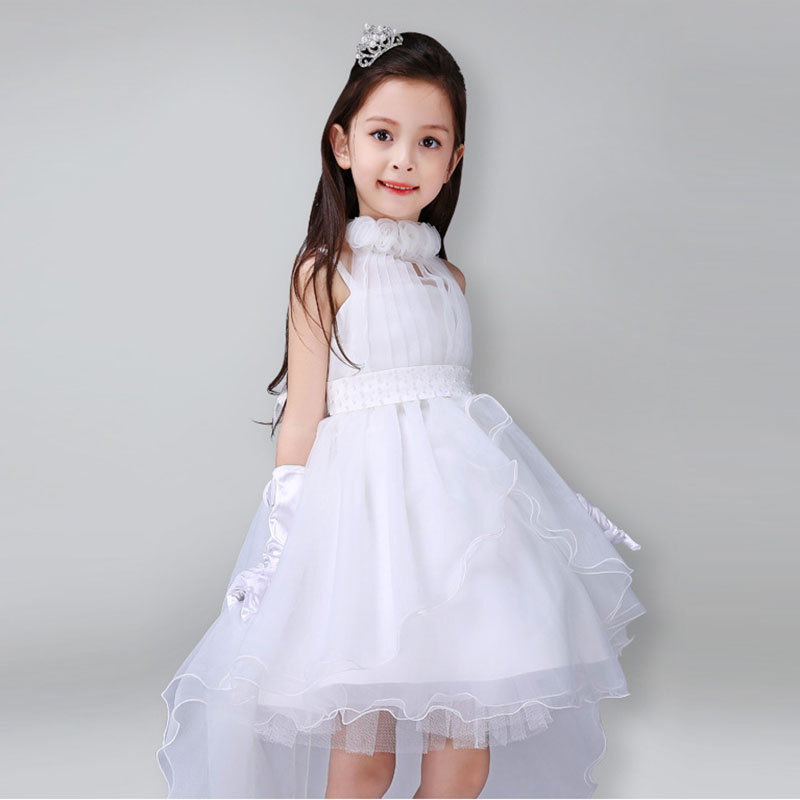 Summer Girls Dress Children's Clothing Party Princess Baby Kids Girls Clothing Wedding Dresses Prom Dress Teen Costume whitepink