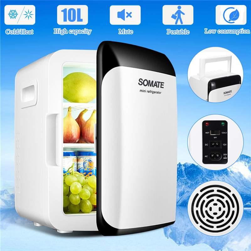 Car Auto-Refrigerator 10L Refrigerator DC12V/AC220V Portable Mini Fridge Compressor Car Fridge Camping Freezer -18~65 Degrees