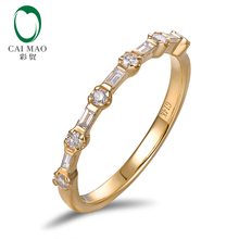 Caimao Jewelry Half Eternity Classic For Unisex 0.30ct Pave H SI Natural Diamond Engagement Wedding Band