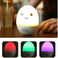 Portable LED Egg Wireless Bluetooth Speaker Stereo Music Loudspeaker Speakers for Smart Phones PC Home Deco Audio Night Lamp