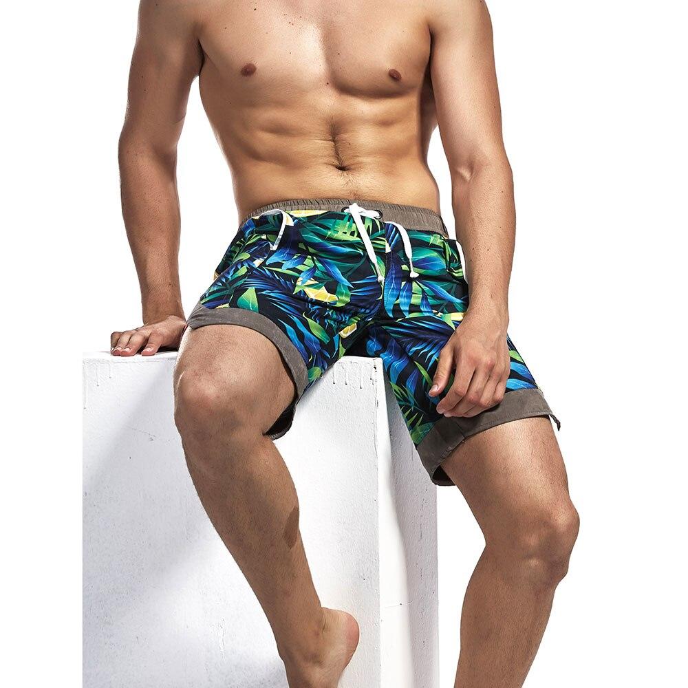 2019Brand Man's Surfing beach pocket Swim   Shorts   High Quality Sport Running   Short   Pants GYM Swimwear Men Surf   Board   Swimsuit