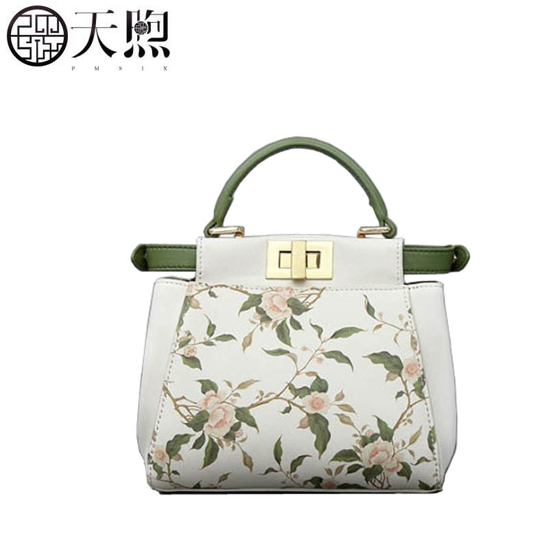Pmsix 2019 New women Leather handbags famous brand women Leather bags Luxury printing fashion small bag tote women leather bagPmsix 2019 New women Leather handbags famous brand women Leather bags Luxury printing fashion small bag tote women leather bag