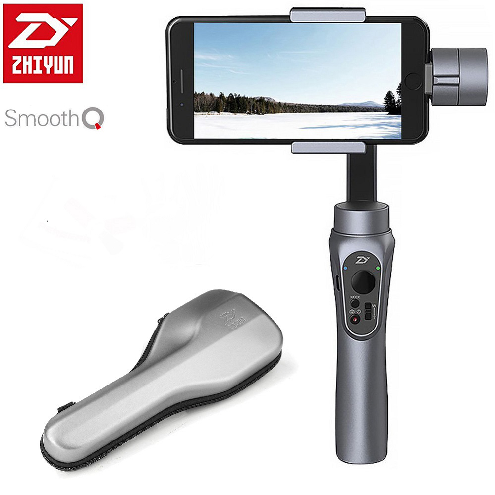 Zhiyun Smooth 4 Q 3 Axis Handheld Smartphone Gimbal Stabilizer for iPhone X 8Plus 8 7P 7 6S Samsung S9 S8 S7 PK Feiyu Vimble 2 in Handheld Gimbal from Consumer Electronics