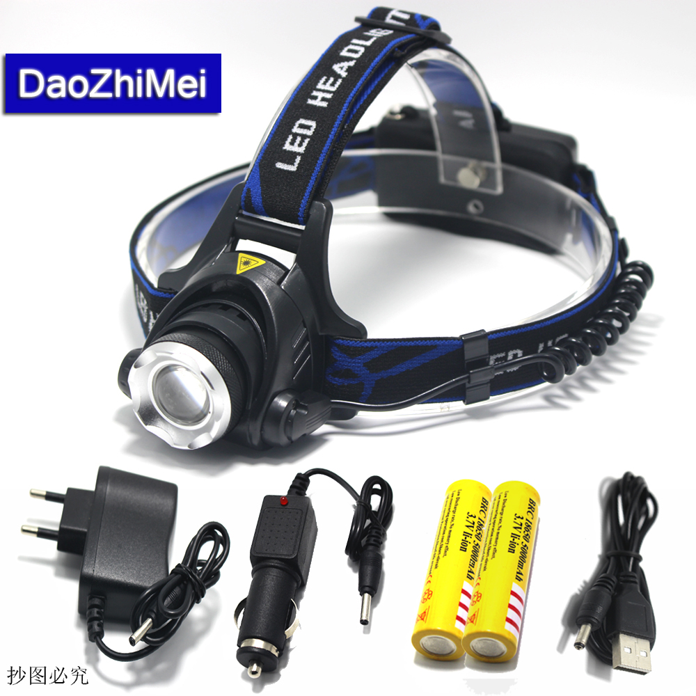 LED Headlight CREE T6 led headlamp zoom 18650 Head lights ...