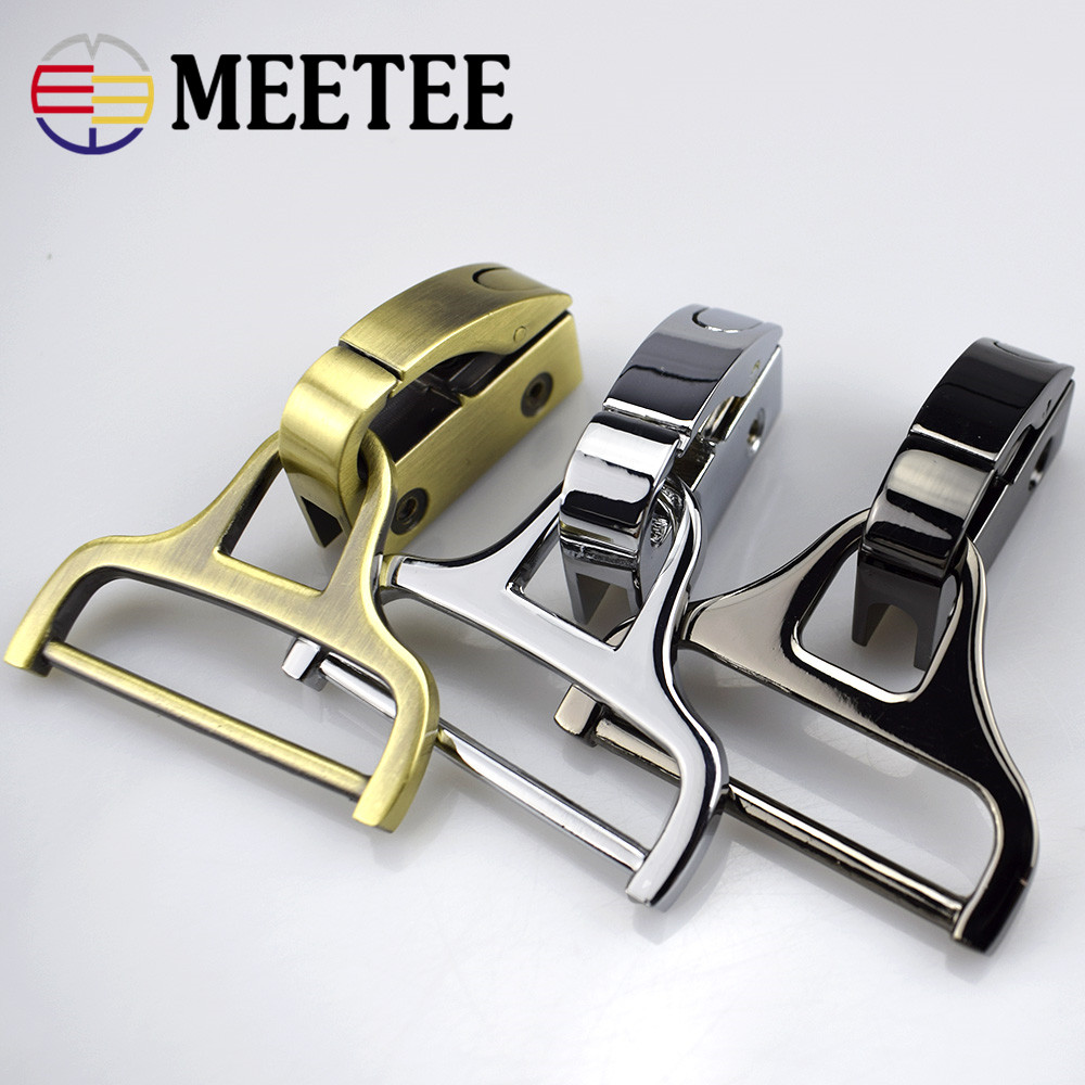 2pcs Meetee Clip Spenner Skrue Side Entrainment Praktisk Installasjonspakke Metal Buckle Man Bag Tilbehør Hardware F2-14