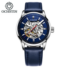 OCHSTIN Luxury Brand Fashion Sports Mechanical Watches Leather Strap Men's