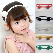 1 pcs Cute 5 colors Kids Girls Baby Ball Headbands Flexible Comfortable Hair Band For Children Fashion Head Bands Headwear 1 pcs comfortable cows drawer small infants two colors high quality baby toilet for young children as baby care