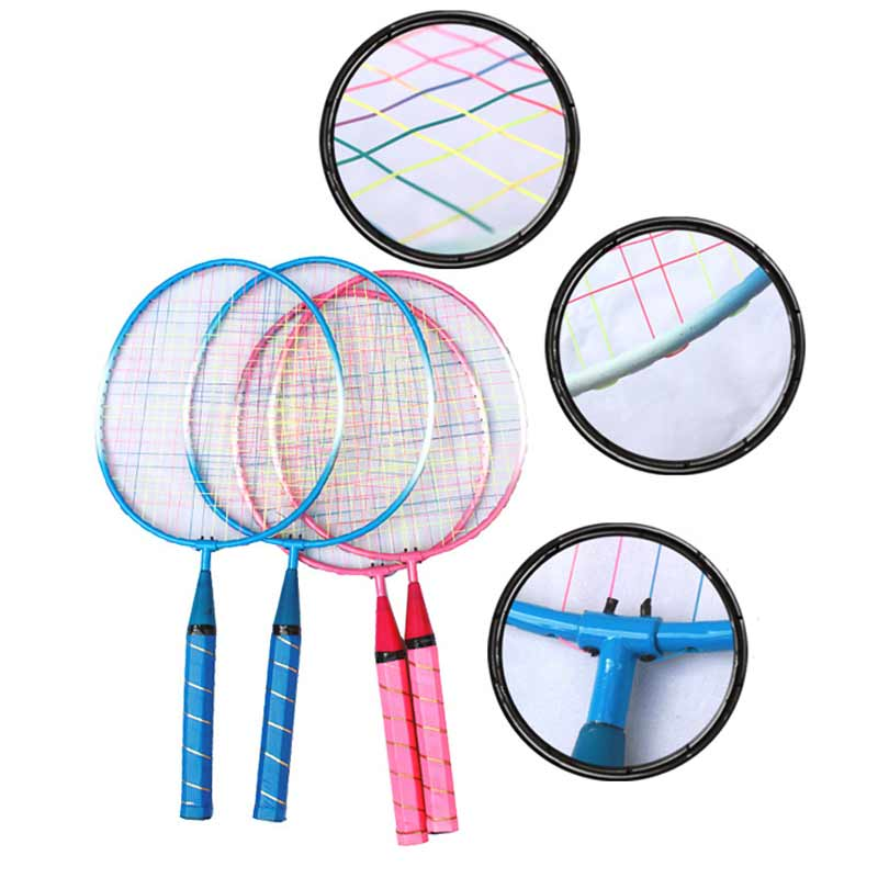 Newly 1 Pair Youth Children's Badminton Rackets Sports Cartoon Suit Toy For Children  FMS19