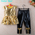 Humor Bear Girls Clothes 2016 Brand Girls Clothing Sets Kids Clothes Children Clothing Toddler Girl Tops+ Pant 2-6Y
