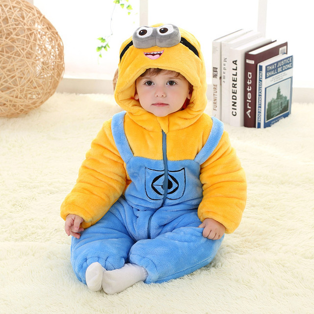d65caacabaab Newborn Baby rompers Pyjamas Autumn kids clothes Jumpsuit animal ...