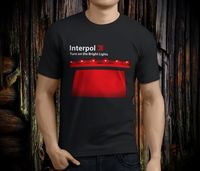 Company T Shirts Short New INTERPOL Turn On The Bright Lights Rock Band Men S Black