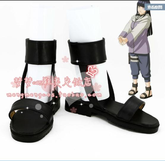 Anime NARUTO Boy Girl Cos Shoes Hyuga Hinata Cosplay Footwear Halloween Adult Cosplay Accessories