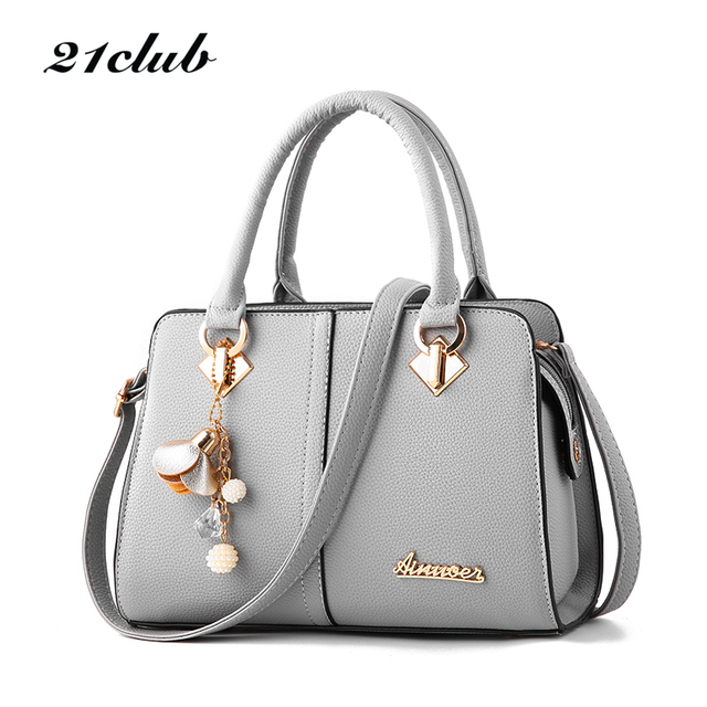 21club brand women hardware ornaments solid totes handbag high quality lady party purse casual crossbody messenger shoulder bags