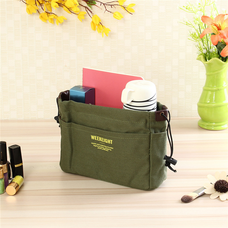 Canvas Drawstring Bag S/M/L Women Makeup Handbag Travel Portable Cosmetic Organizer Bag Elegant Make Up Bags Purse Wash Kit