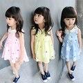 2017 Baby Girls Summer Flower-print Dresses Girls Cute Floral Sleeveless Dress Kids Cotton Summer Dresses