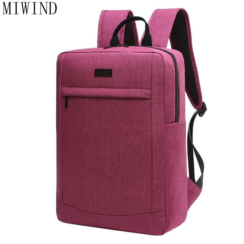 MIWIND  Brand Backpack Men for Travel Business Notebook Laptop Backpack Men Backpack School Rucksack TCF949 14 15 15 6 inch flax linen laptop notebook backpack bags case school backpack for travel shopping climbing men women