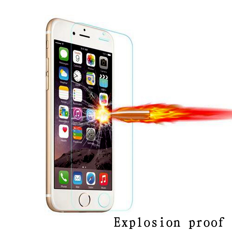 Explosion-proof Premium 0.26mm 9H HD Tempered Glass For iPhone 4 4S 5 SE 5S 6 6S 7 Plus 6Plus 6SPlus Screen Protector Film Case
