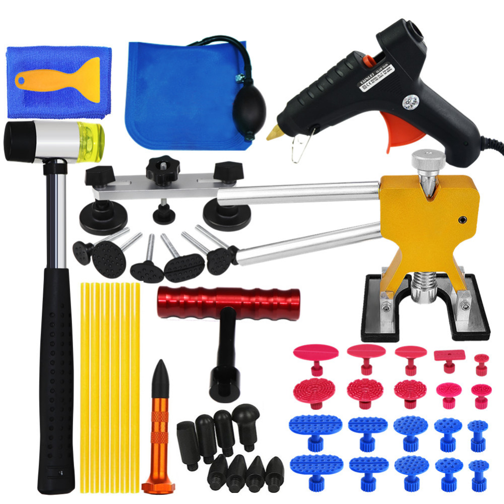 PDR Tools Car Body Paintless Dent Repair Tool Set Dent Puller Reverse Hammer Sucker Remover Lifter for Remove Dent Hail damage