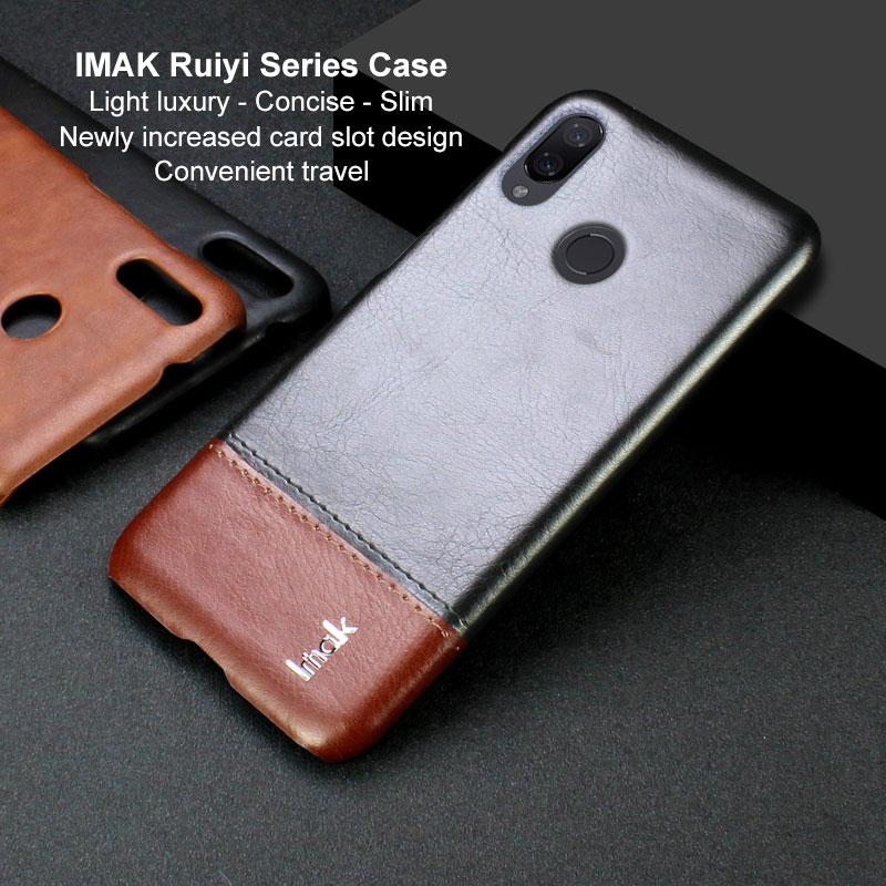 Buy 5.84'' Xiaomi Mi Play Protective Case Luxury Funda Xiaomi Mi Play Case IMAK Concise Leather Back Cover for Coque MiPlay Xiaomi for only 7.62 USD