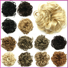 Para mujer de la fibra sintética onda rizada del lazo del Clip In On Updo cubierta pedazo de cabello multicolor envío gratis