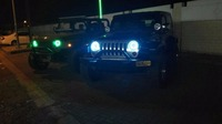 7 LED Headlight with Red Yellow White Green Blue Halo Angel Eye Ring Turn Signal DRL Lamps For Jeep Wrangler JK for Lada 4x4