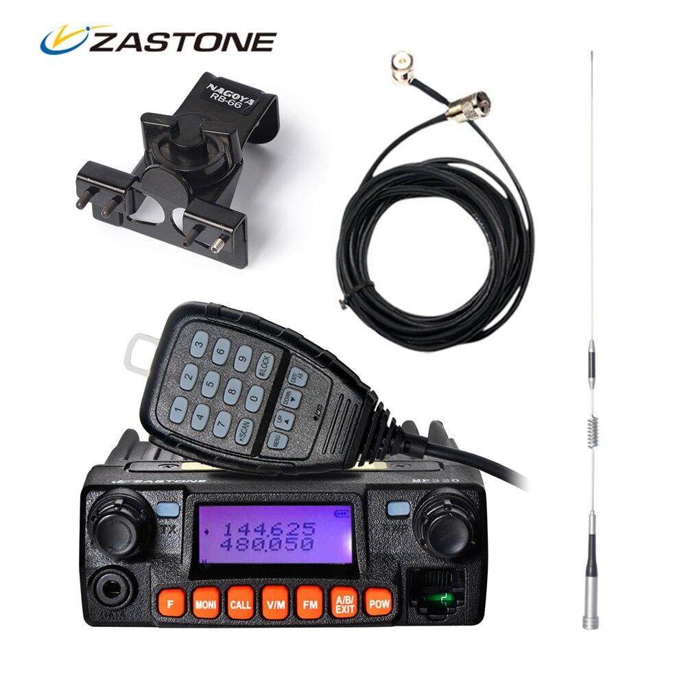 bilder für Zastone MP320 Auto Walkie Talkie Dritten Band VHF UHF Mini Mobile Radio HF Transceiver Fm-zwei-wege-funkamateure Für Jagd Radio Station