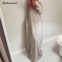 2019 New Arrival Muslim Dress For Women Elegant Beauty Musilm Dresses Spring Autumn Winter Middle Eastern Islamic Long Dress