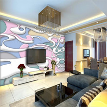 3D abstract moire TV background wall professional production mural factory wholesale wallpaper custom poster photo