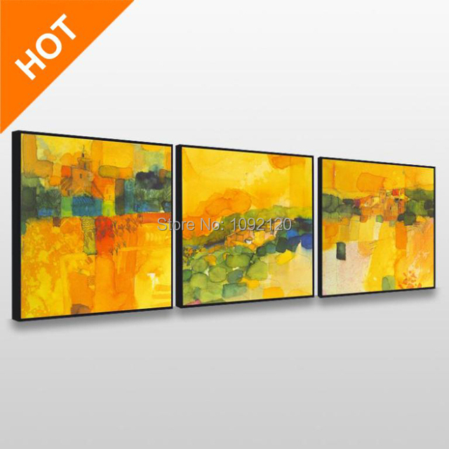 Handmade 3 Pcs/Set Abstract Canvas Wall Art Top Home Decoration ...