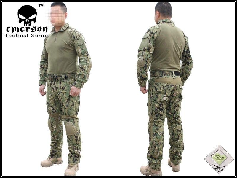 Emerson G2 Combat Shirt /& Pants w// Elbow /& Knee Pads Tactical BDU Uniform Set