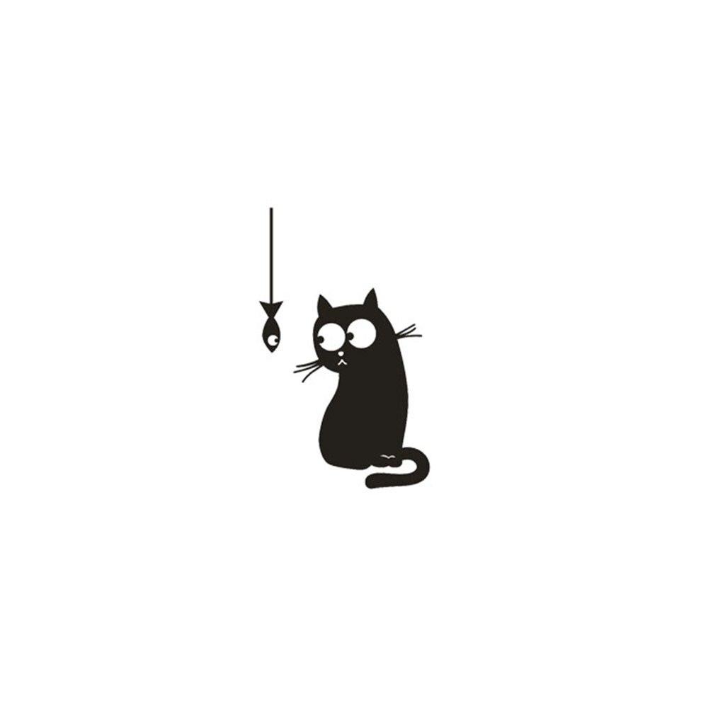 Стены Стикеры s милый кот переключатель на стену с наклейками розетку Стикеры s комнаты, холодильника стикеры Паредес decoracion