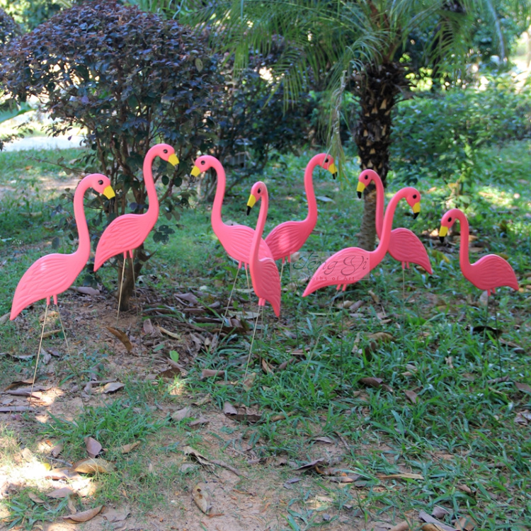 Nº42 embalaje ahorro de espacio de color rosa flamingos jardín ...