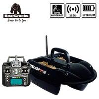 Piloto automático GPS carpa KINCARP anzuelo doble pesca V1 cebo barco con batería de litio 1500G señuelo barco 4 tolvas|boat boat|boat bait|boat fishing -