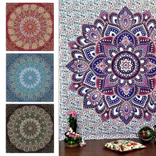 Foral India Tapestry peacock Printed  Wall Decoration Blankets Carpet Mandala Hanging Retail