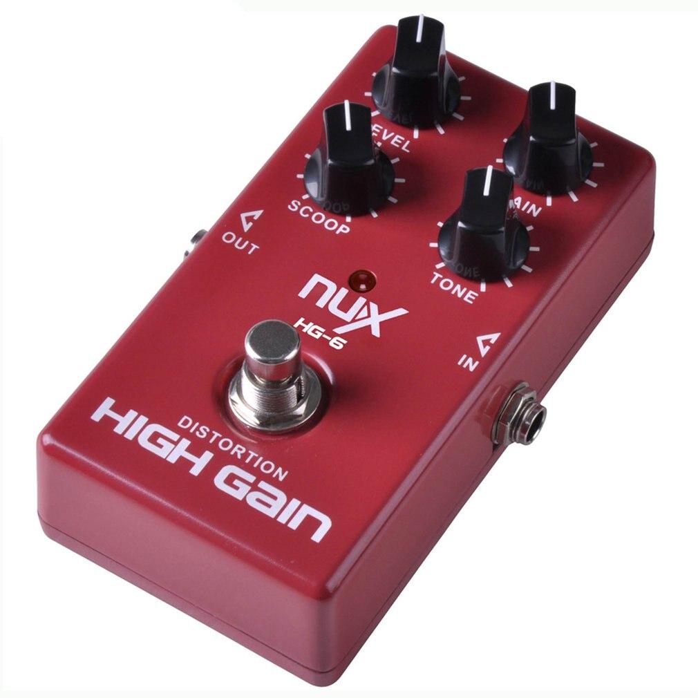 Professionnel NUX HG-6 guitare distorsion haut Gain effet électrique pédale True dérivation guitare réparation entretien outil