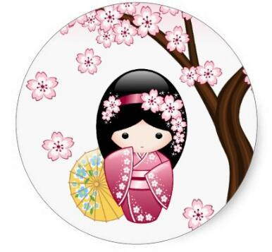 1.5inch Spring Kokeshi Doll Cute Japanese Geisha Girl ...