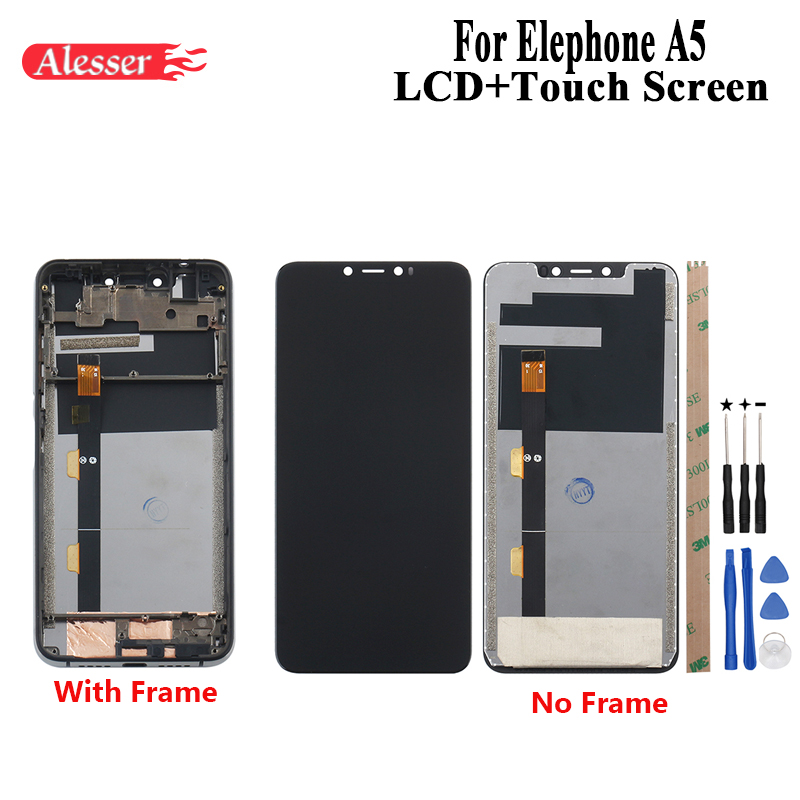 Alesser For Elephone A5 LCD Display and Touch Screen With Frame Assembly Repair Parts With Tools And Adhesive For Elephone A5Alesser For Elephone A5 LCD Display and Touch Screen With Frame Assembly Repair Parts With Tools And Adhesive For Elephone A5