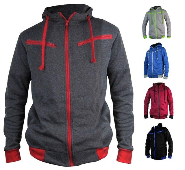 2016 Autumn Cardigan Men Hoodies Jacket Brand Clothing Fashion Hoodies Man Casual Slim Hoody Sweatshirt Sportswear Zipper Hoodie