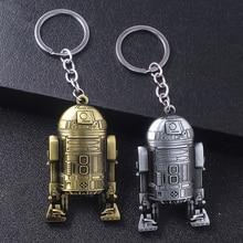 Movie Star Wars Keychains 3D Robot R2D2 High Quality Metal Keyring For Men Car Women Bag Accessories
