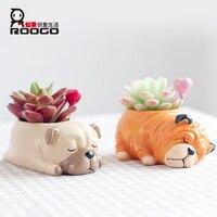 Roogo accueil 1 pcs forme différente succulentes pots belle petit chien pot de fleurs accueil jardin décoration avec dropshipping