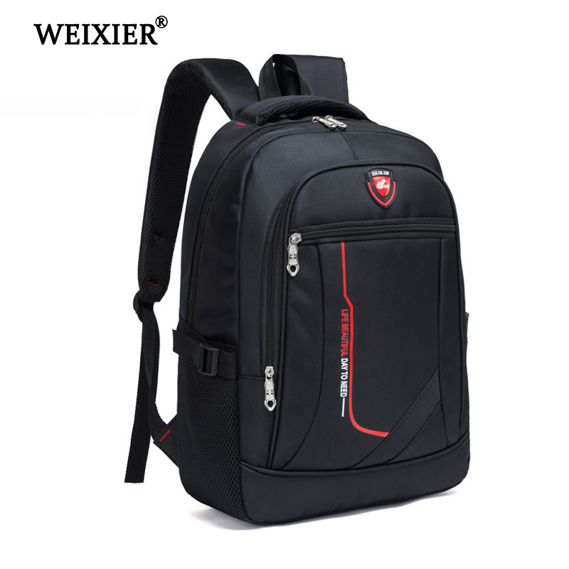 WEIXIER Multifunctional Large Men Capacity Student Schoolbag Casual School Backpack Fashion Male Oxford Travel Man's Simple Bag