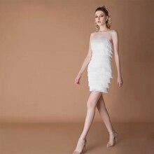 Fringe kleid vintage elegante sexy party club tragen strand mesh engen streetwear sommerkleid runway frauen sommer kleid 2019 quaste